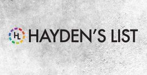 Hayden's List Logo