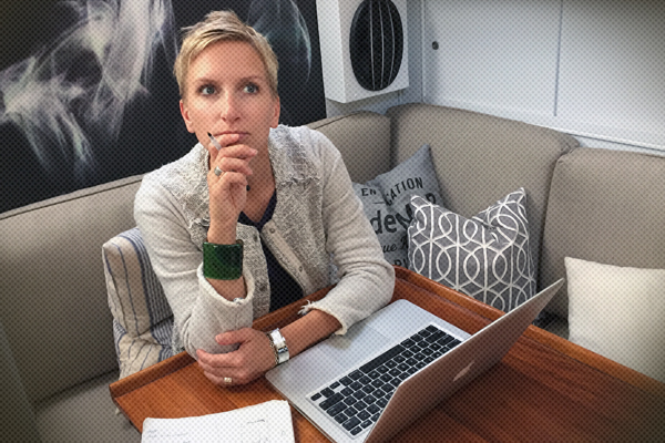 Karin Haggard thinking