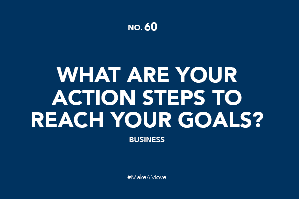 What are your action steps to reach your goals?