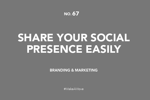 Share you social presence easily