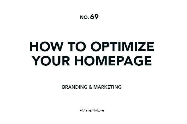 Optimize your homepage